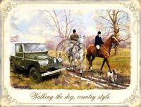 Caminando The Dog , País Estilo Caballos Caza, Land Rover, Grande Metal / Lata - land rover - ebay.es