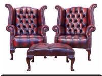 **WANTED** CHESTERFIELDS any condition FOOTSTOOLS, CLUB CHAIRS, WINGBACKS, SOFAS, SETTEES £££