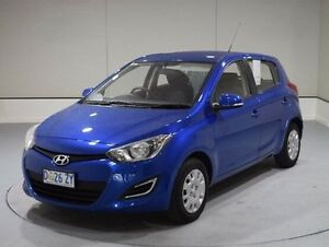 2014 Hyundai i20 PB MY14 Active Blue 6 Speed Manual Hatchback Invermay Launceston Area Preview