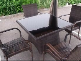 Brand New 5 Piece Zebrano 5 Piece All Weather Dining / Patio Set