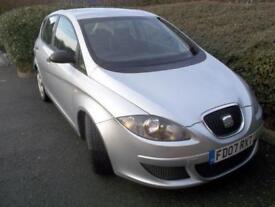 Seat Altea 1.6 Reference. SH. WARRANTY. CD/AUX. AC. CRUISE. EW. EM. ISOFIX.