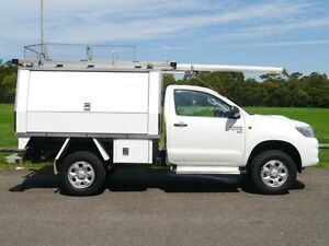 2013 Toyota Hilux KUN26R MY12 SR White 5 Speed Manual 2D CAB CHASSIS Brookvale Manly Area Preview