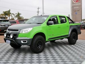 2014 Holden Colorado RG MY14 LX Crew Cab Green 6 Speed Manual Utility
