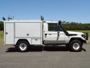 1997 Toyota Landcruiser FZJ75RP (4x4) White 5 Speed Manual 2D CAB CHASSIS Brookvale Manly Area Preview