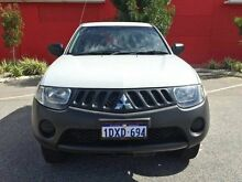 2008 Mitsubishi Triton ML MY08 GLX Double Cab White 5 Speed Manual Utility Beckenham Gosnells Area Preview