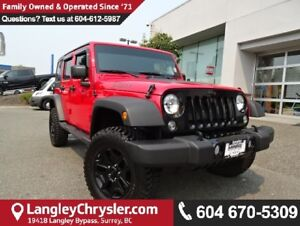 2016 Jeep Wrangler Unlimited Sport * ACCIDENT FREE * LOCAL BC...