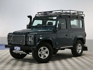 2012 Land Rover Defender MY12 90 Green 6 Speed Manual Wagon