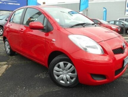 2010 Toyota Yaris NCP90R MY11 YR Red 4 Speed Automatic Hatchback Soldiers Hill Ballarat City Preview