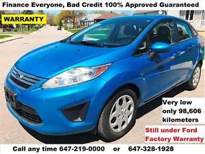 2012 Ford Fiesta SE Auto SEDAN FINANCE 100% APPROVED WARRANTY
