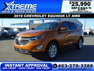 2019 CHEVROLET EQUINOX LT AWD *INSTANT APPROVAL* $159/BW!