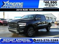 2019 RAM 1500 SPORT CREW CAB 4X4 $279 B/W *$0 DOWN* APPLY NOW Calgary Alberta Preview