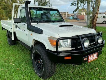 2012 Toyota Landcruiser VDJ79R MY10 Workmate White 5 Speed Manual Cab Chassis Berrimah Darwin City Preview