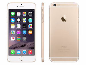iPhone 6 Plus 128GB gold and white
