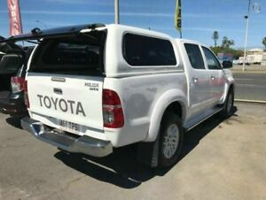 2013 Toyota Hilux KUN26R MY14 SR5 (4x4) White 5 Speed Automatic