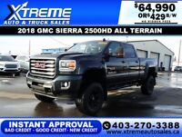 2018 GMC SIERRA 2500HD ALL TERRAIN LIFTED $1429 B/W *$0 DOWN* Calgary Alberta Preview