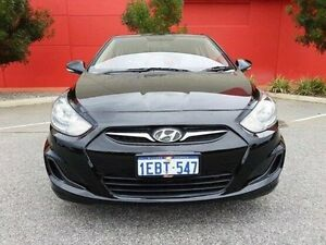 2012 Hyundai Accent RB Active Black 5 Speed Manual Hatchback Cannington Canning Area Preview
