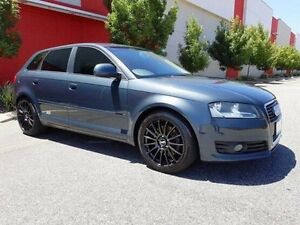 2009 Audi A3 8P MY09 TFSI Sportback S tronic quattro Ambition Grey 6 Speed Cannington Canning Area Preview