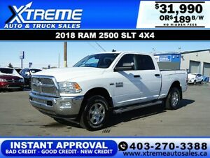 2018 RAM 2500 SLT CREW CAB  *INSTANT APPROVAL* $0 DOWN $189/BW