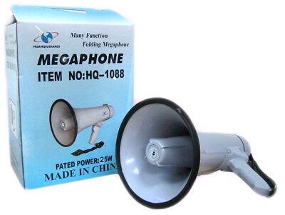 Pdr Megáfono Portátil Profesional Aux 600M 25W Grabadora de Voz HQ-1088