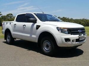 2012 Ford Ranger PX XL White Auto Sports Mode 4D UTILITY Brookvale Manly Area Preview