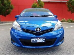 2012 Toyota Yaris NCP130R YR Blue 4 Speed Automatic Hatchback Cannington Canning Area Preview