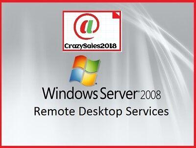 Windows Server 2008 R2 Remote Desktop Services Rds 20 User Cals License Key