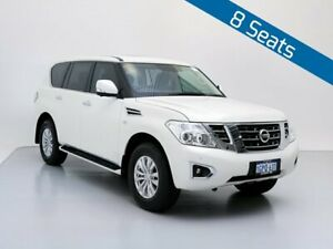 2018 Nissan Patrol Y62 Series 4 MY18 TI (4x4) White 7 Speed Automatic Wagon