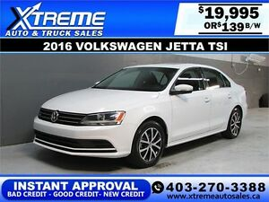 2016 Volkswagen Jetta TSI Sunroof $139 b/w APPLY NOW DRIVE NOW