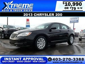 2013 Chrysler 200 $79 bi-weekly APPLY NOW DRIVE NOW