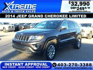 2014 JEEP GRAND CHEROKEE LIMITED $249 B/W APPLY NOW DRIVE NOW
