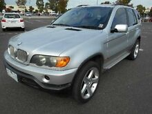 2001 BMW X5 E53 4.4I Silver 5 Speed Auto Steptronic Wagon Maidstone Maribyrnong Area Preview