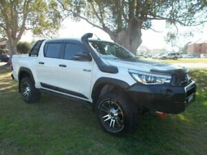 2018 Toyota Hilux GUN126R Rugged X Double Cab White 6 Speed Sports Automatic Utility Kempsey Kempsey Area Preview