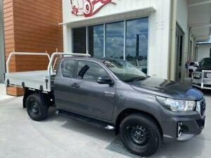 2018 Toyota Hilux GUN126R SR EXTENDED CAB Grey Manual Cab Chassis Bells Creek Caloundra Area Preview