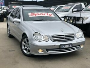 2006 Mercedes-Benz C200 W203 MY07 Upgrade Kompressor Classic Silver 5 Speed Auto Tipshift Sedan Werribee Wyndham Area Preview