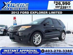 2012 Ford Explorer Limited $235 bi-weekly APPLY NOW DRIVE NOW