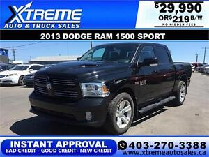 2013 Dodge Ram 1500 Sport *INSTANT APPROVAL* $0 DOWN $219/BW!