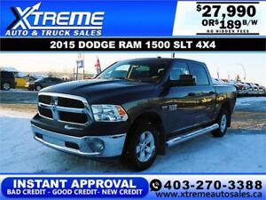 2015 RAM 1500 SLT CREW CAB *INSTANT APPROVAL $0 DOWN $189/BW
