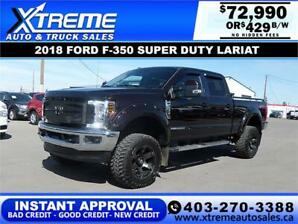2018 FORD F-350 SUPER DUTY LARIAT *INSTANT APPROVAL* $429/BW!