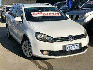 2010 Volkswagen Golf 1K MY10 103 TDI Comfortline White 6 Speed Direct Shift Wagon Werribee Wyndham Area Preview