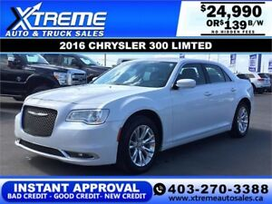2016 CHRYSLER 300 LIMITED $139 B/W $0 DOWN *$INSTANT APPROVAL