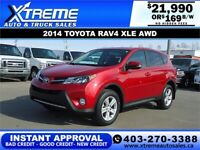 2014 TOYOTA RAV4 XLE AWD *INSTANT APPROVAL* $0 DOWN $169/BW Calgary Alberta Preview