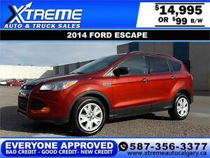 2014 Ford Escape $99 bi-weekly APPLY NOW DRIVE NOW