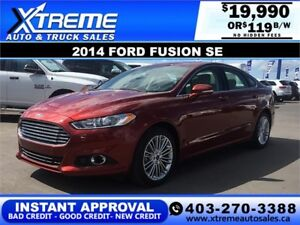 2014 Ford Fusion SE $0 Down $119 b/w APPLY NOW DRIVE NOW