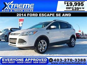 2014 Ford Escape SE AWD $139 BI-WEEKLY APPLY NOW DRIVE NOW