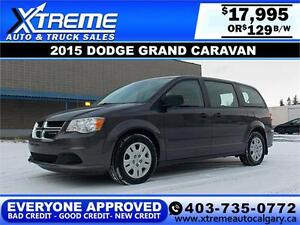 2015 Dodge Grand Caravan SE $129 BI-WEEKLY APPLY NOW DRIVE NOW