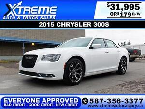 2015 Chrysler 300S w/Beats $179 bi-weekly APPLY NOW DRIVE NOW