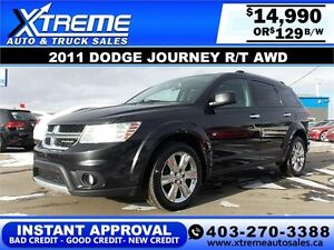 2011 Dodge Journey R/T AWD $129 bi-weekly APPLY NOW DRIVE NOW