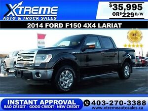 2014 Ford F150 LARIAT CREW $229 Bi-Weekly APPLY NOW DRIVE NOW