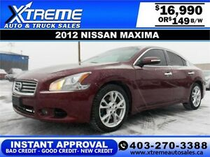 2012 Nissan Maxima $149 bi-weekly APPLY NOW DRIVE NOW