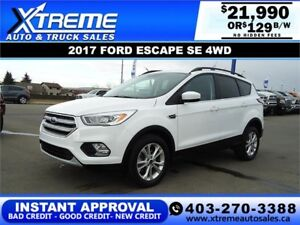 2017 FORD ESCAPE SE AWD $129 B/W $0 DOWN *INSTANT APPROVAL*